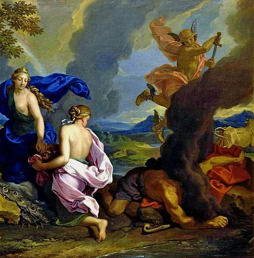 he Beheading of Argus by Mercury. Francois Alexandre Verdier. French 1651-1730.