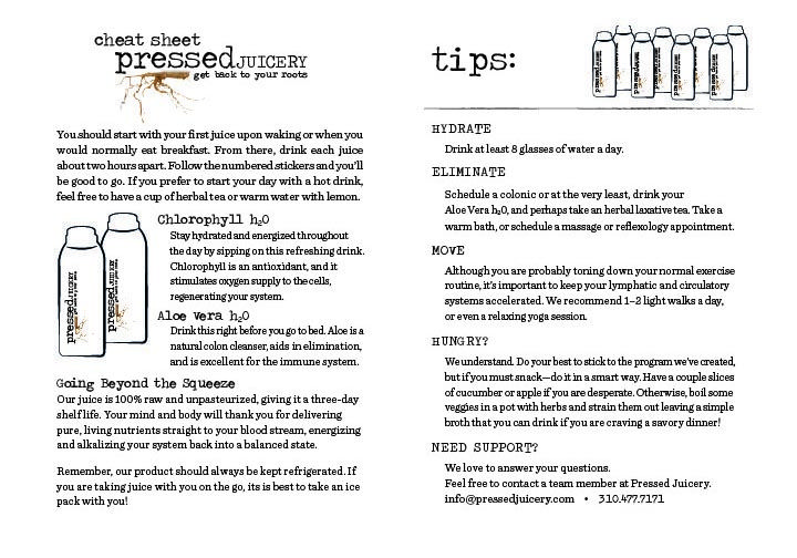Pressed Juicery Cleanse Cheat Sheet Pressed Juicery Lifestyle - fresh blueprint cleanse questions