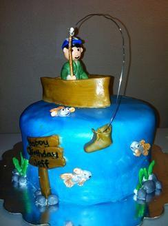 Gone Fishing cake The Cake Bunny Pinterest Fishing cakes Cake