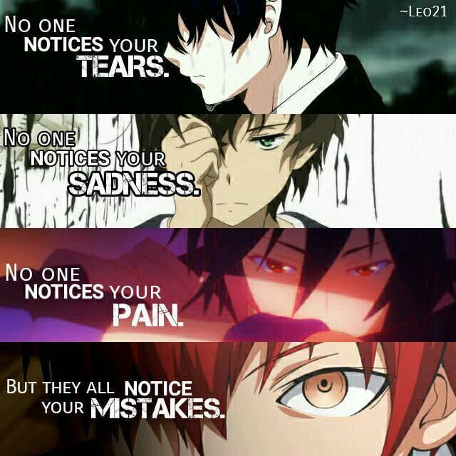 Saying Quotes About Sadness: Anime:Ao No Exorcist Hyouka No Game No Life Assassination