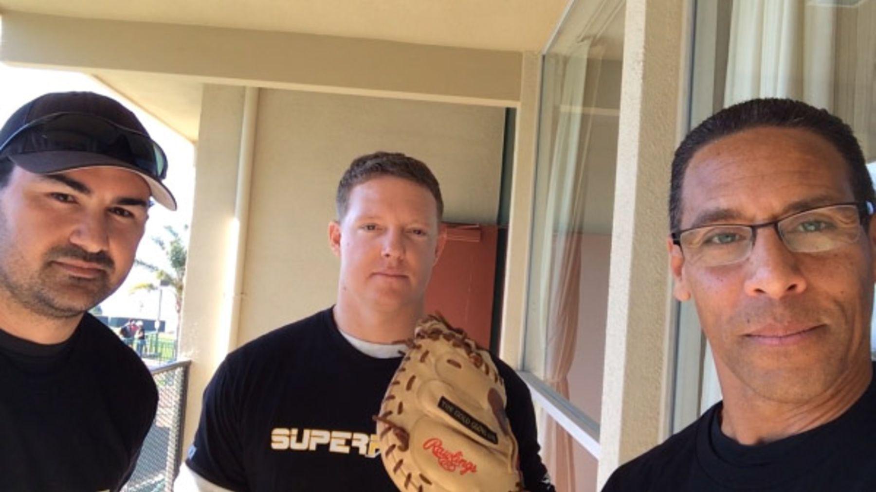 Adrian Gonzalez and Nick Hundley - Catcher's Mitt - Miles a Minute