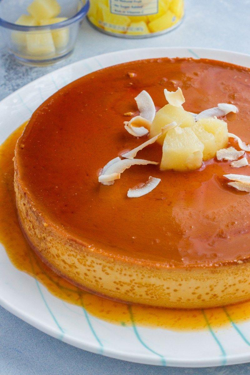 Pineapple Flan Smart Little Cookie Recipe Latin Desserts Desserts Flan Recipe Easy