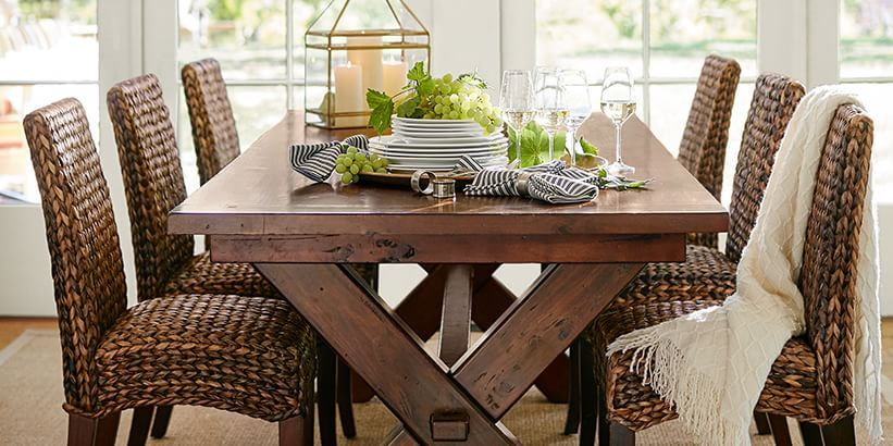 Trestle Dining Tables \u0026 Toscana Dining Collection | Pottery Barn & Trestle Dining Tables \u0026 Toscana Dining Collection | Pottery Barn ...