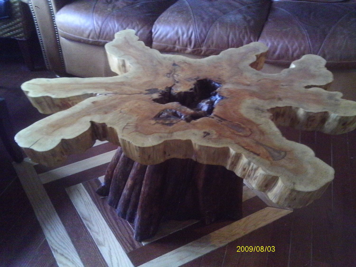 Cypress Coffee Table Handcrafted Via Etsy Wood Ideas - Cypress stump coffee table