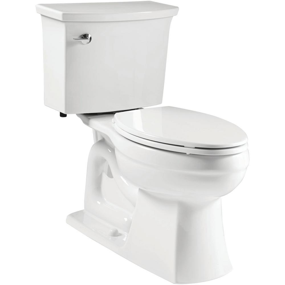 Kohler Elmbrook The Complete Solution 2 Piece 1 28 Gpf Single Flush Elongated Toilet In White With Quiet Close Seat Included K 21285 0 Toilet Kohler Ada Toilet