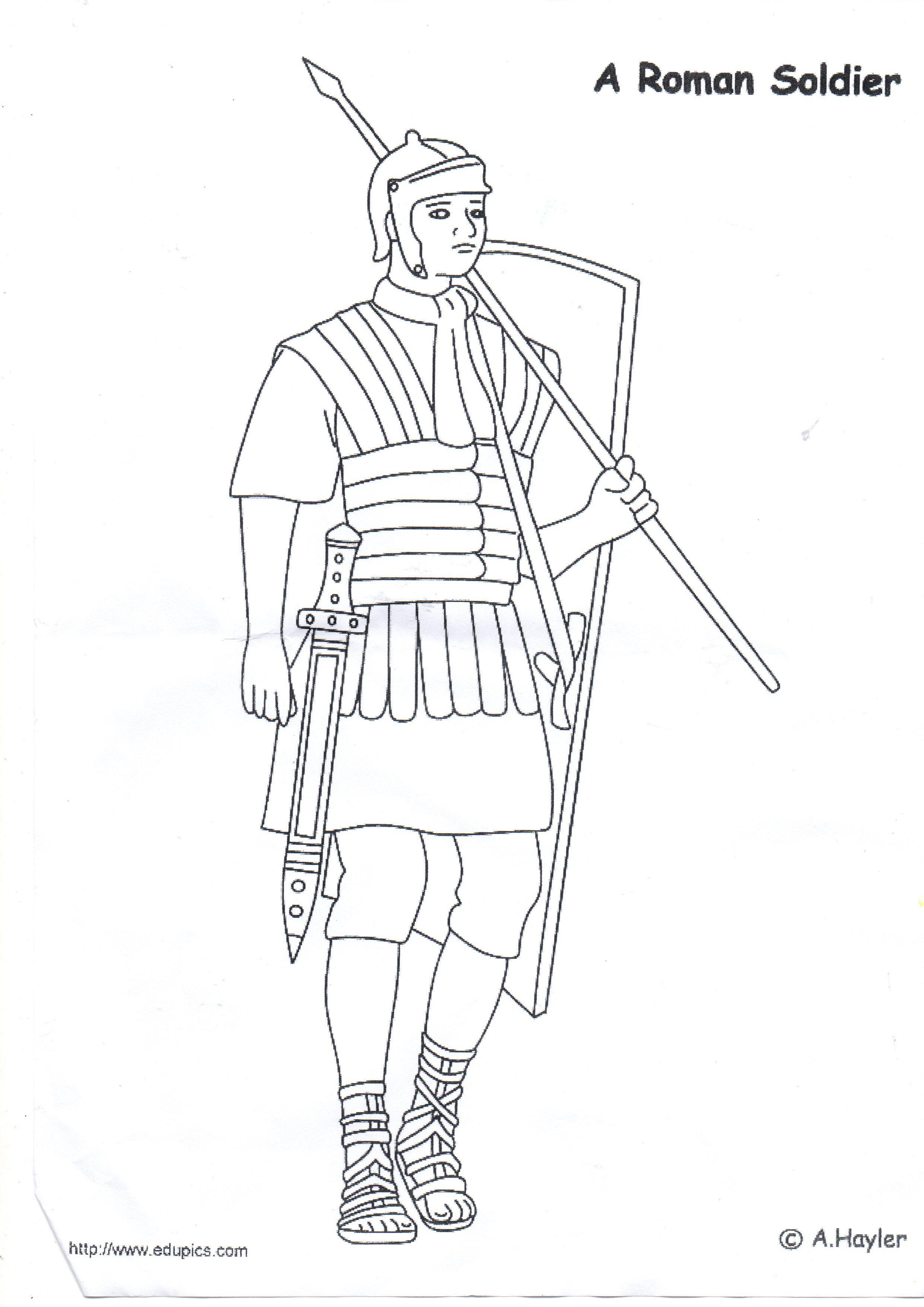 Roman Soldier Line Drawing To Colour In Roman Soldiers Coloring Pages Ancient Rome Kids