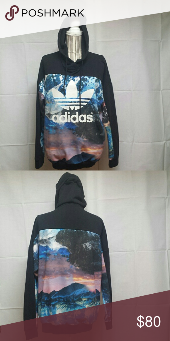 Adidas mountain clash hoodie Adidas Mountain Clash hoodie. Rare Good used  condition. Oversized small Adidas Tops Sweatshirts   Hoodies ba73c9938cf1d