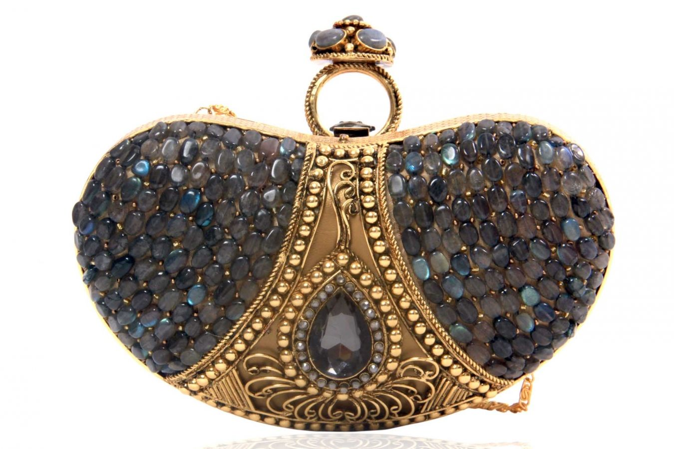 Accessorize Blossombox Jewelry with this exquisite purse--Ringed Indian Designer Clutch