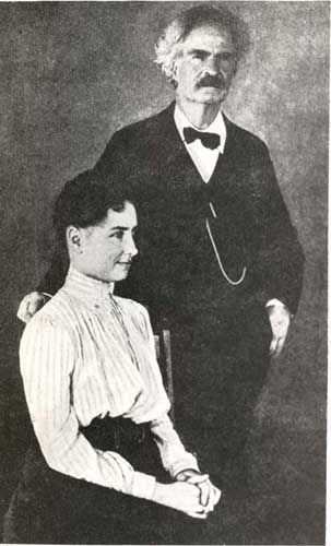 'Miss [Helen] Keller and Mark Twain, 1902,' courtesy of American Foundation for the Blind