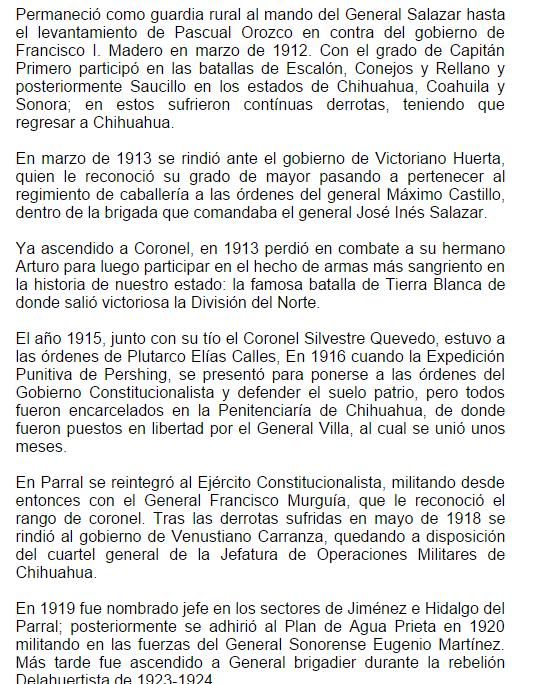 LECTURA Y ATESTAMIENTO DEL GRADO DE GENERAL A MAXIMO CASTILLO