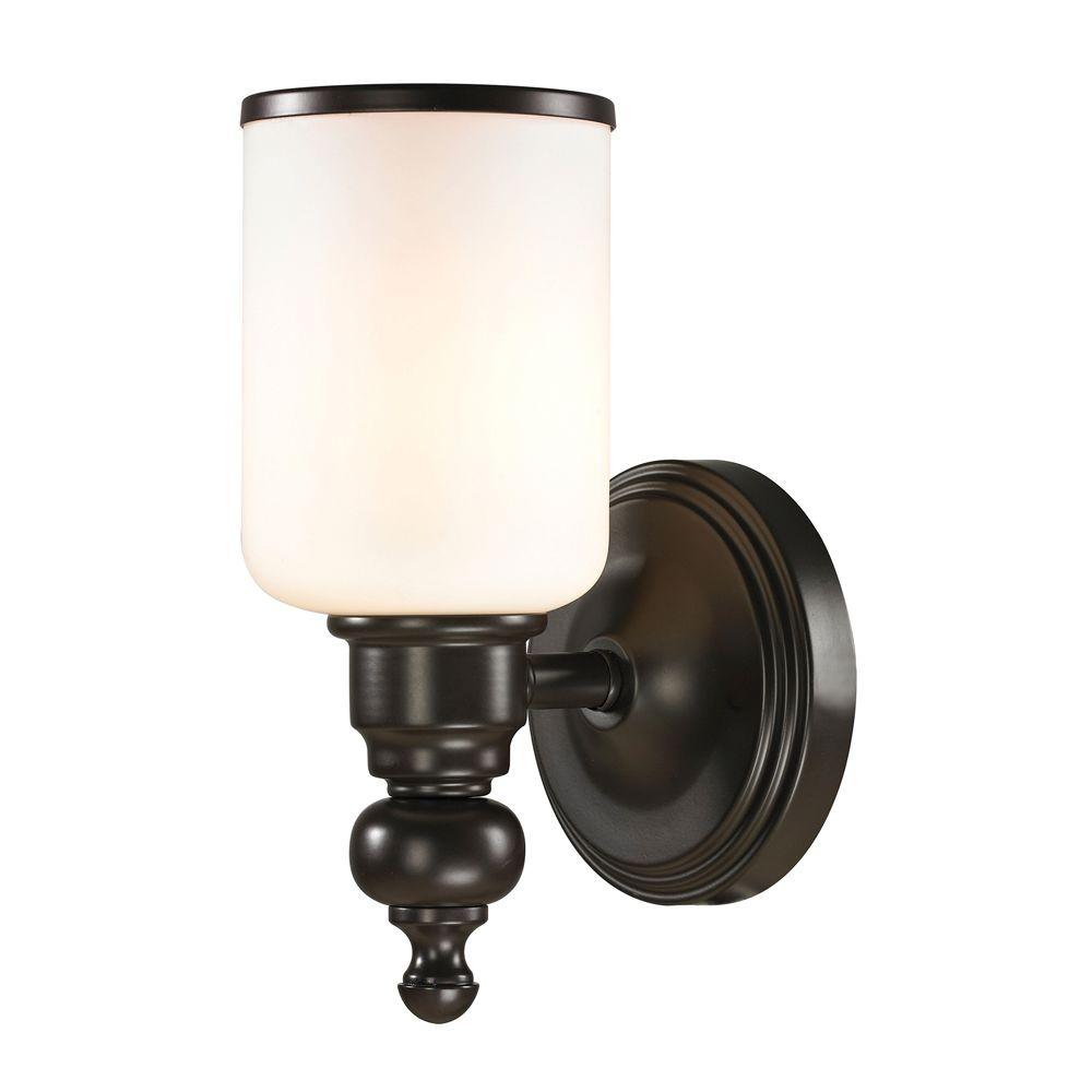 Titan Lighting Leadenhall 1 Light Oil Rubbed Bronze Led Bath Light Tn 31018 The Home Depot Oil Rubbed Bronze Titan Lighting Vanity Lighting