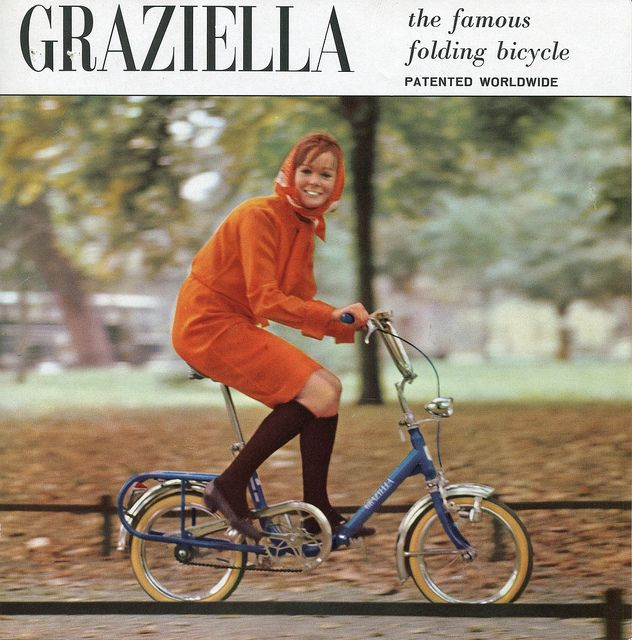 Graziella The Famous Folding Bicycle Patented Woldwide Folding Bicycle Bicycle Italian Bicycle