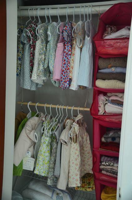 Artesanato Em Madeira ~ Ideas DIY para ropero armario de bebe aprovechar maximo espacio almacenamiento ropa bebe