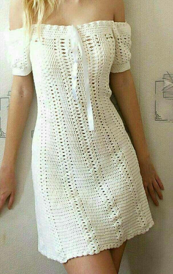 15+ Off the shoulder crochet dress ideas