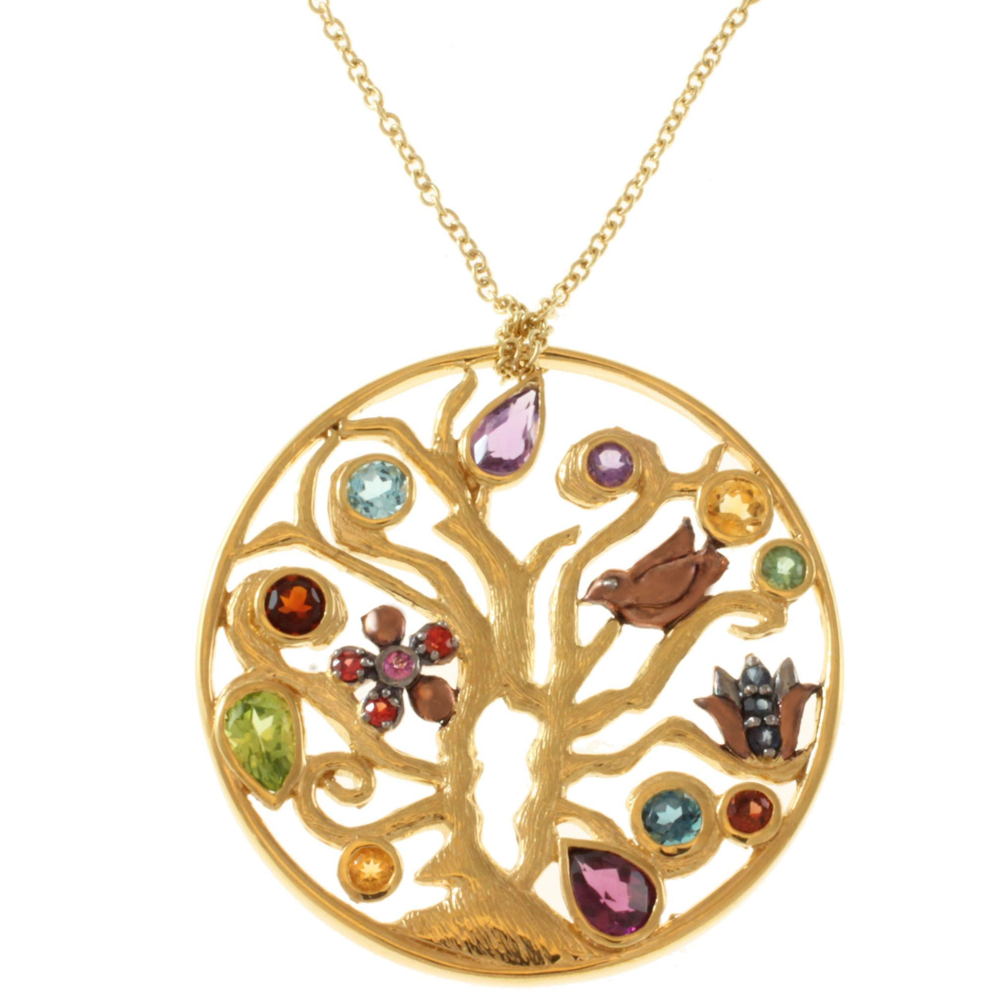 coloured polly gasston gemstone multi goldsmith necklace product and gold stones