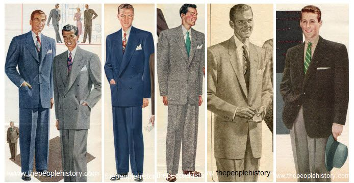Mens 50s Fashion Clothing Examples Including Suits And Jackets I Like 2nd From Right The Best 1950s Fashion Menswear Mens Clothing Styles Vintage Mens Fashion