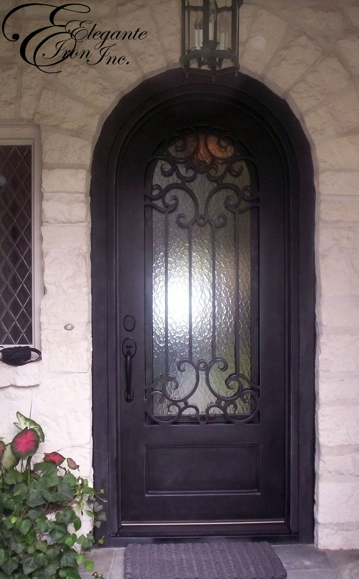 Custom Wrought Iron Front Door Full Arch With Images Wrought