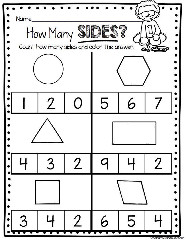 Kindergarten Geometry Unit Freebies Back To School In Kindergarten
