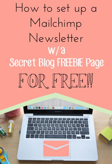 Setting up a Newsletter with Freebies for Free