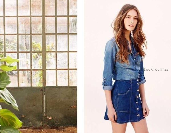 842bda830 pollera de jean abotonada corta - tendencia verano 2016   Mi estilo ...