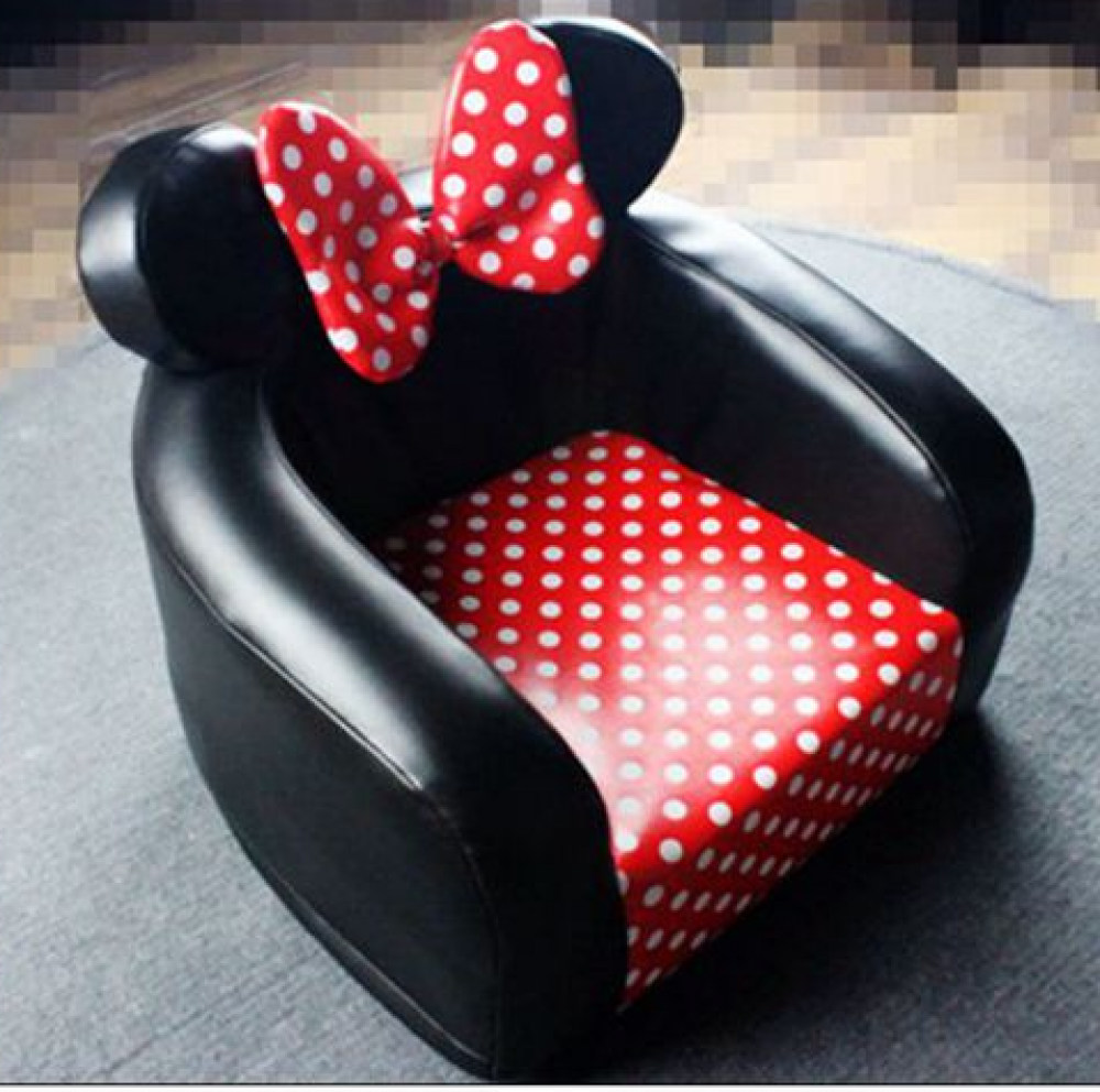 Gorgeous Minnie U0026 Mickey Mouse Themed PU Leather Toddler Chairs Size   X X  Material   PU Leather