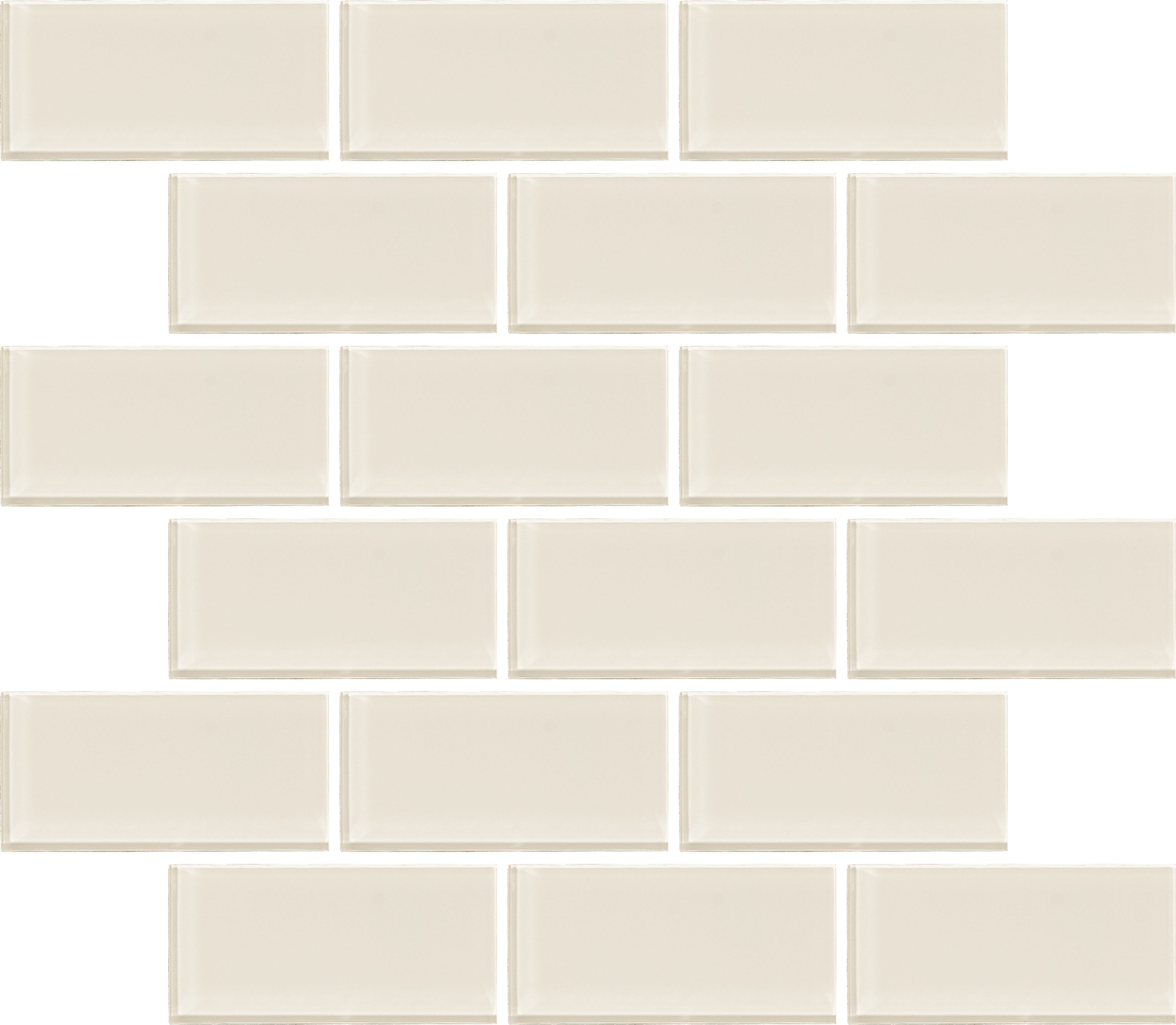 Utc0224 Ivory 2 X4 Mosaic Glass Glass Brick Tile Floor