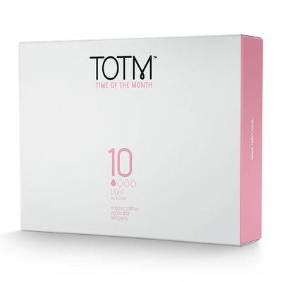 Time of the Month Light Organic Cotton Applicator Tampons x10