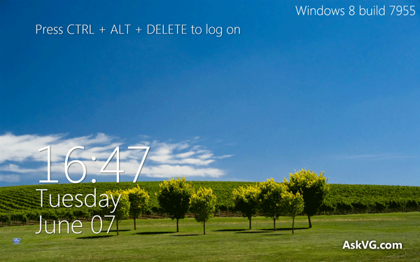 Download Windows 8 Lock Screen Style Metro Clock Screensaver