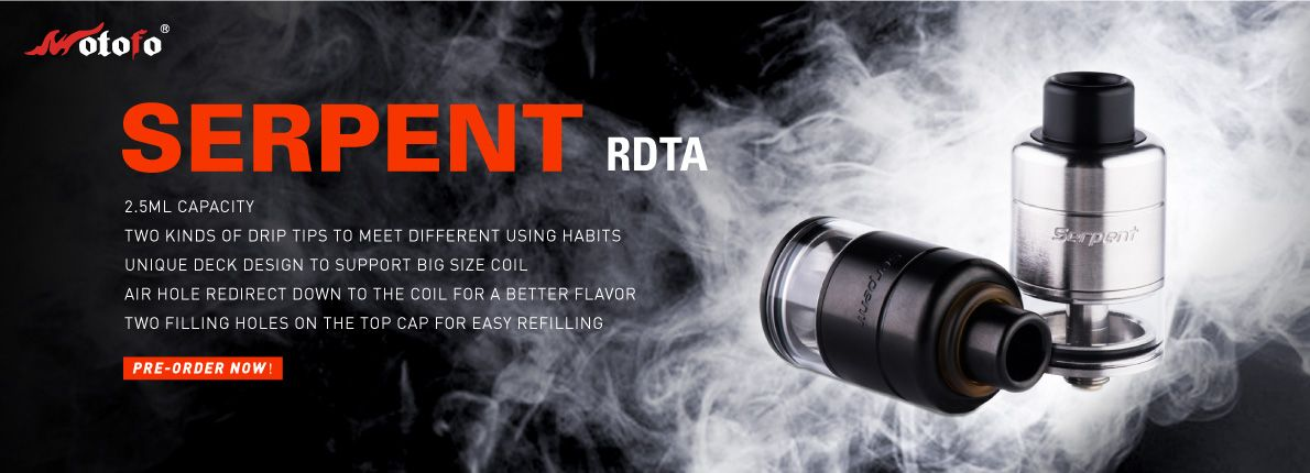 Serpent Single Coil RDTA by Wotofo, Easy Big Coil Builds, Better
