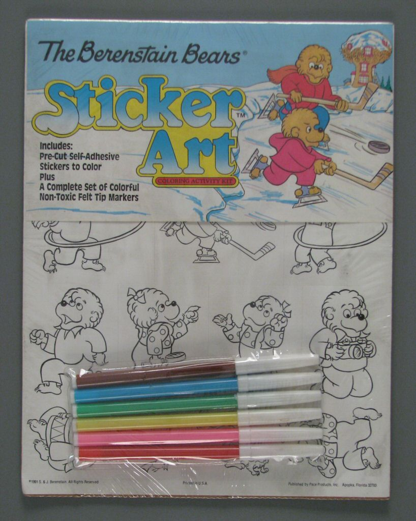 The Berenstain Bears Sticker Art Coloring Activity Kit 1991