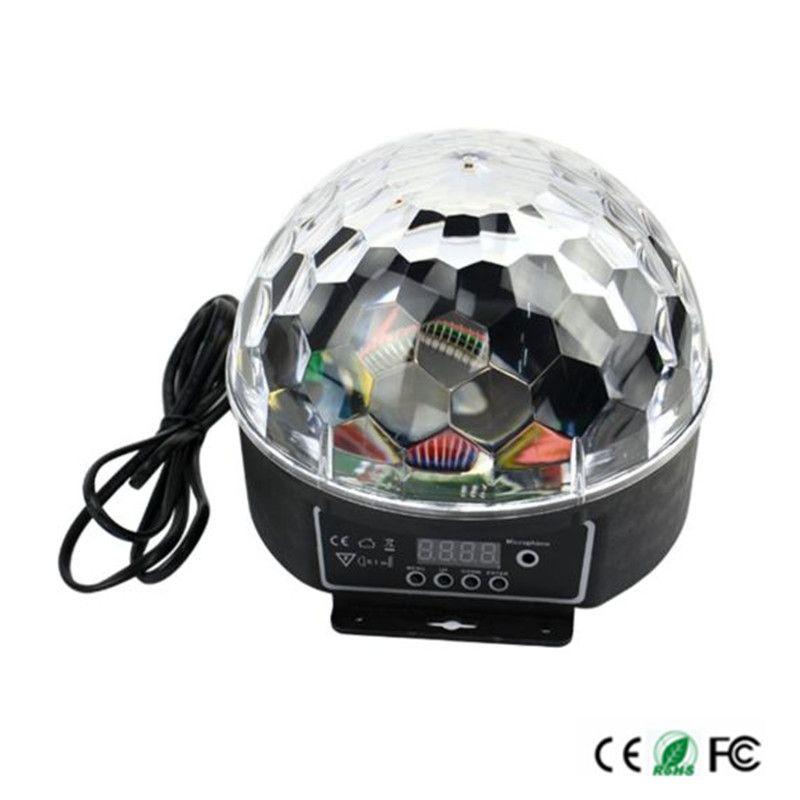 Newest Digital 20w Ac85 265v Led Rgb Crystal Magic Ball Effect Light Dmx Disco Dj Stage Lighting Lamp Free Shipping Led Efeito De Luz Iluminacao
