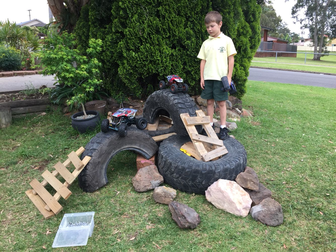Got some cool little RC rock crawlers, had to build a ...