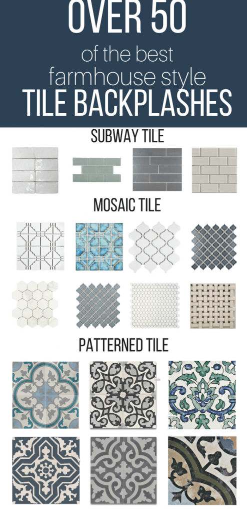 Over 50 Of The Best Farmhouse Style Tile Backsplash Ideas For Your Kitchen Bathroom Farmhouse Kitchen Backsplash Farmhouse Style Kitchen Farmhouse Backsplash