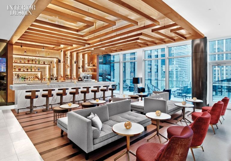 3 must visit manhattan hotels hospitality spaces bar - Interior design classes minneapolis ...