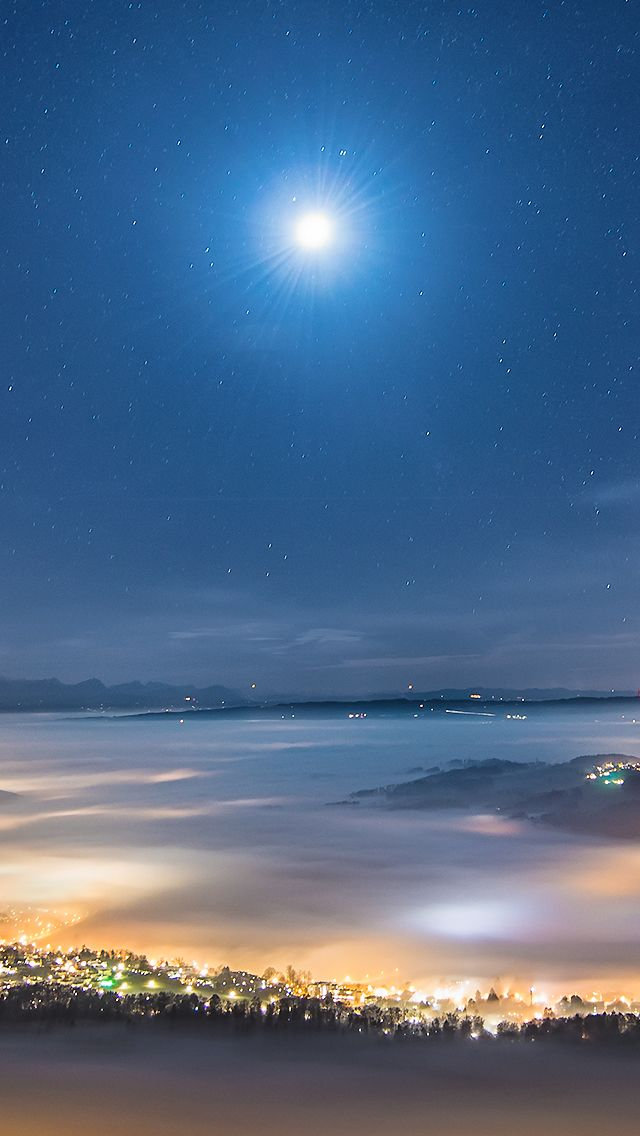 Town Of Under The Stars iPhone 5 Wallpaper   DREAMY   Iphone 5s wallpaper, Landscape pictures, Stars