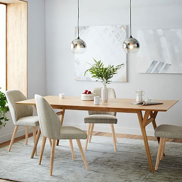 Crawford Upholstered Dining Chair Sets #westelm Megan  Phill