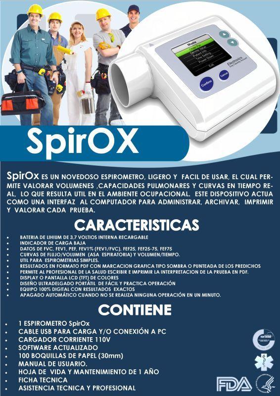 Espirometro Profesional Tamizajes Salud Ocupacional Spirox - $ 1.219.000 http://articulo.mercadolibre.com.co/MCO-443646267-espirometro-profesional-tamizajes-salud-ocupacional-spirox-_JM