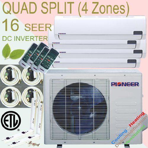 Pioneer Quad Split System Ductless Multi Zone Air Conditioner