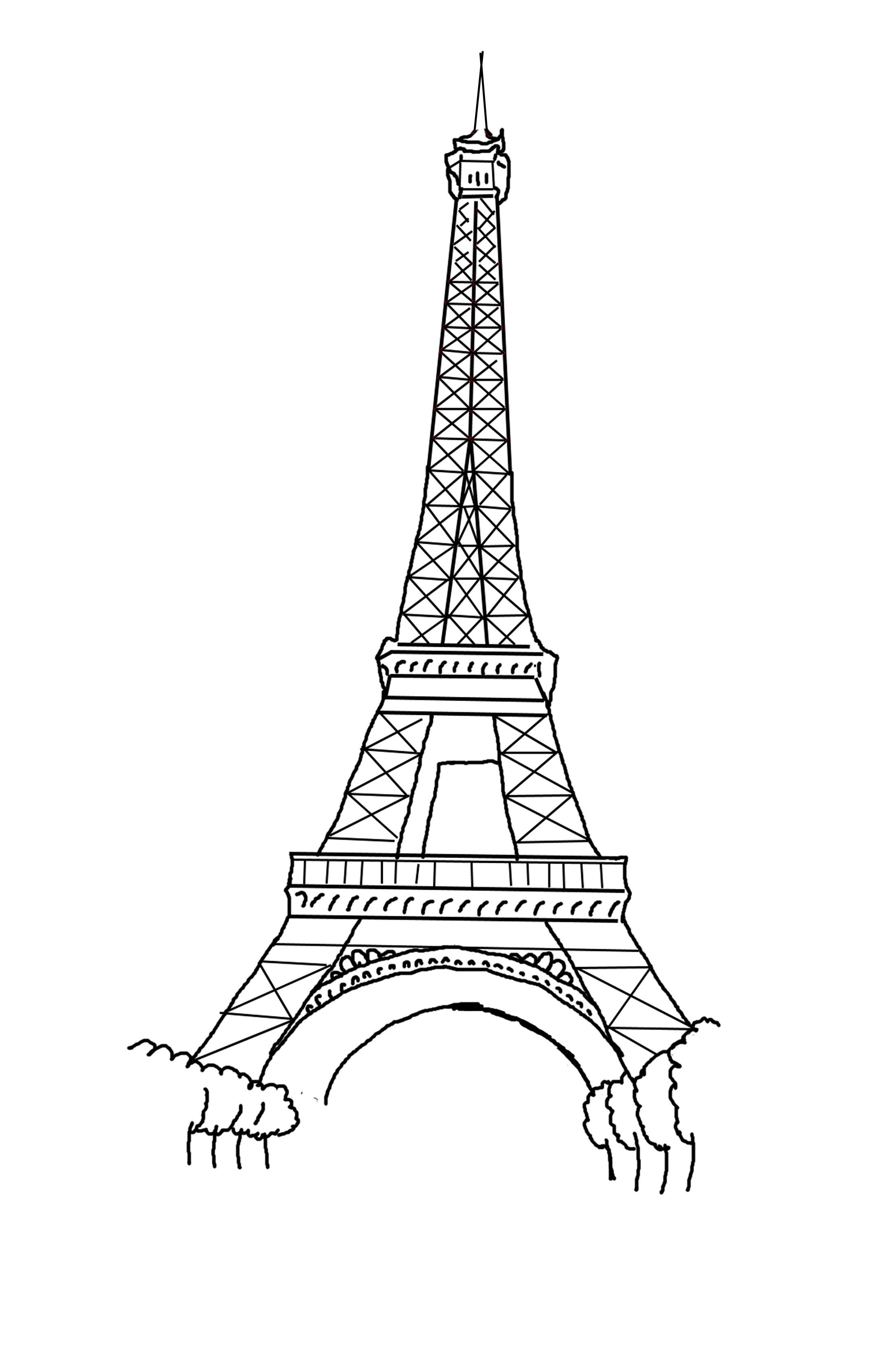 Eiffel Tower Coloring Pages This Kind Of Picture Is Available In Wide And High Resolutions Structure Very Close Graphics May Become Discovered Our Set