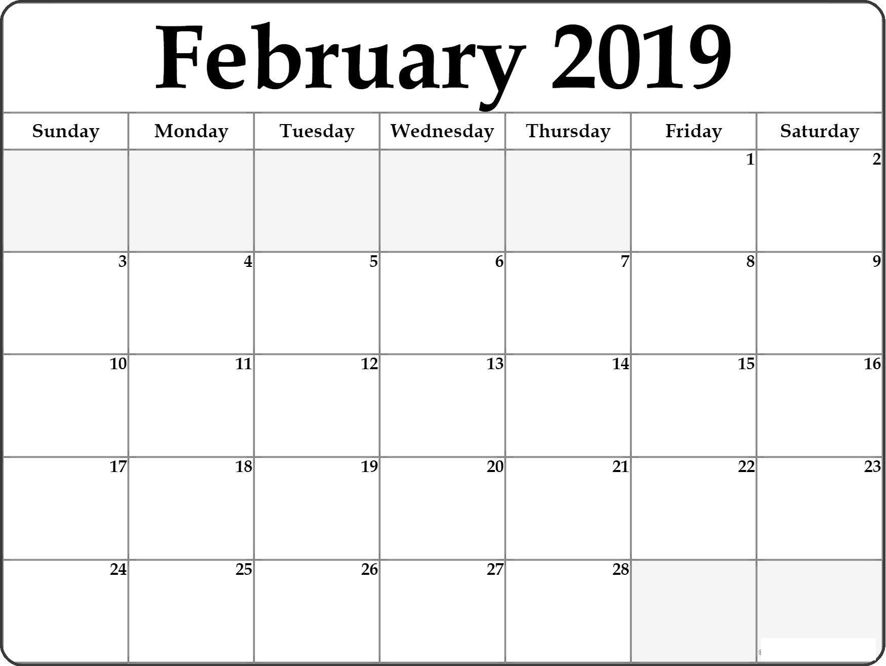 Work Calendar 2019 February calendar 2019 Manage Work | February Calendar 2019 Manage