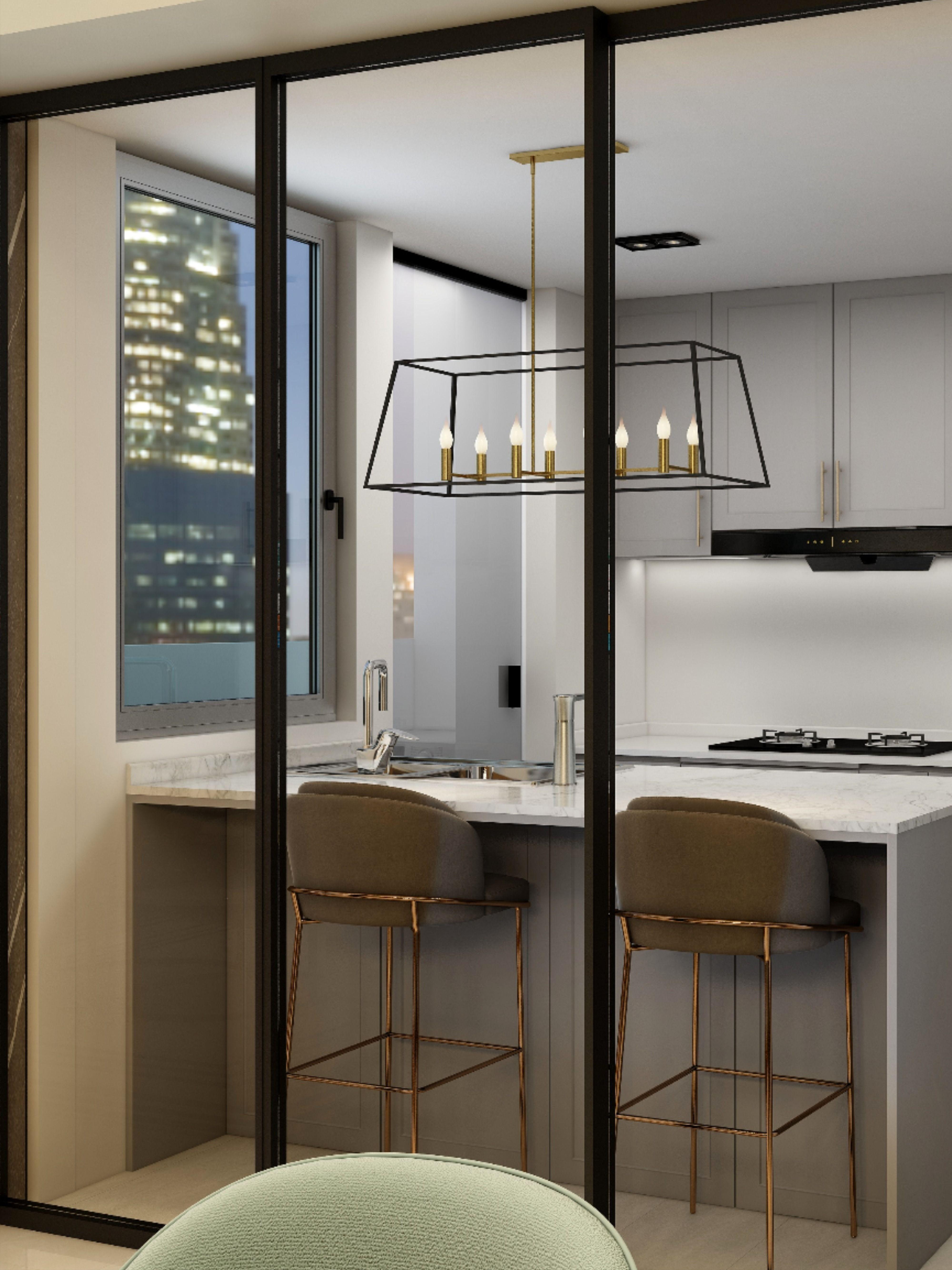 Kitchen Sliding Door Montview Condo In 2020 Condo Interior Design Modern Luxury Interior Condo Interior