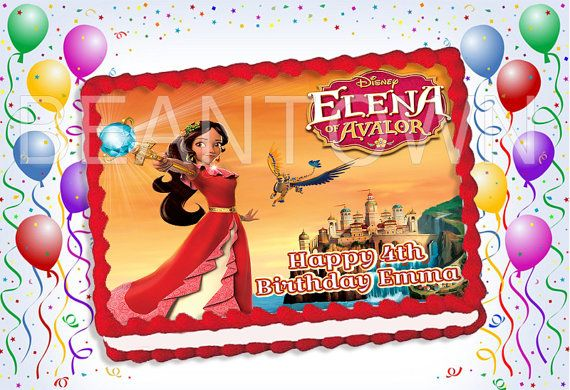 Elena Of Avalor Custom Photo Edible Cake Topper Icing