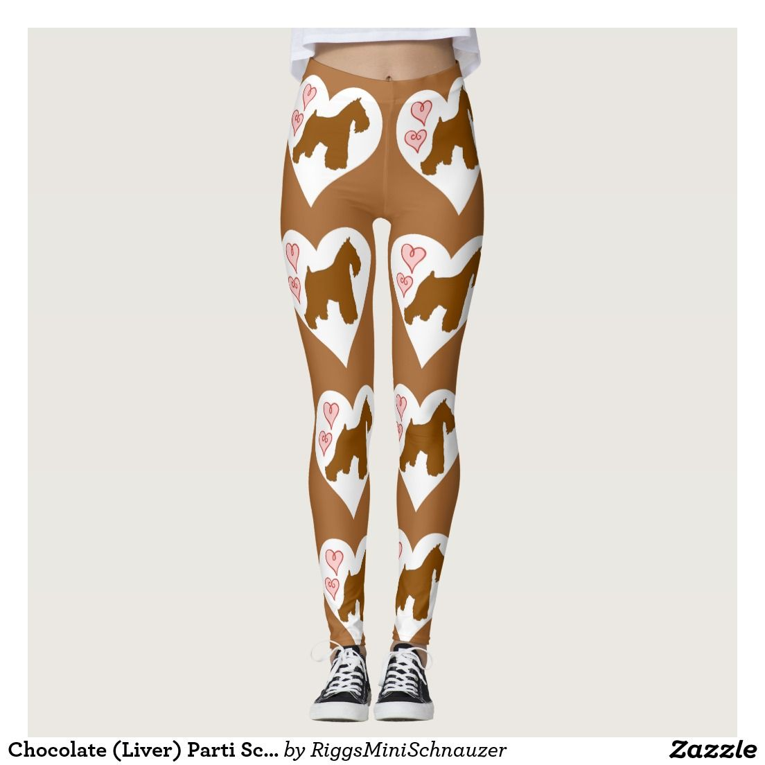 e60b7557fa8e7 Chocolate (Liver) Parti Schnauzer Leggings | Schnauzers | Schnauzer ...