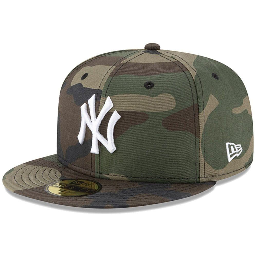 Men S New Era Camo New York Yankees Woodland Camo Basic 59fifty Fitted Hat In 2021 Woodland Camo Fitted Hats New Era