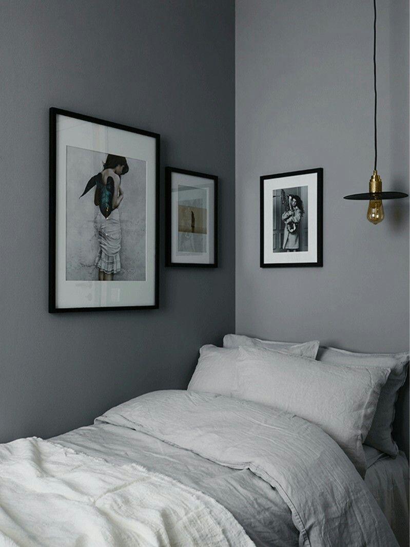 3 unterschiedliche Grautöne im Schlafzimmer Schlafzimmer