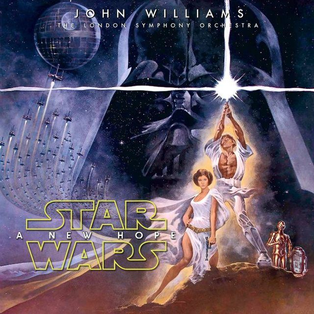 John Williams Star Wars A New Hope Ost Custom Cover Star Wars Poster Star Wars Episode 4 Star Wars Episodes