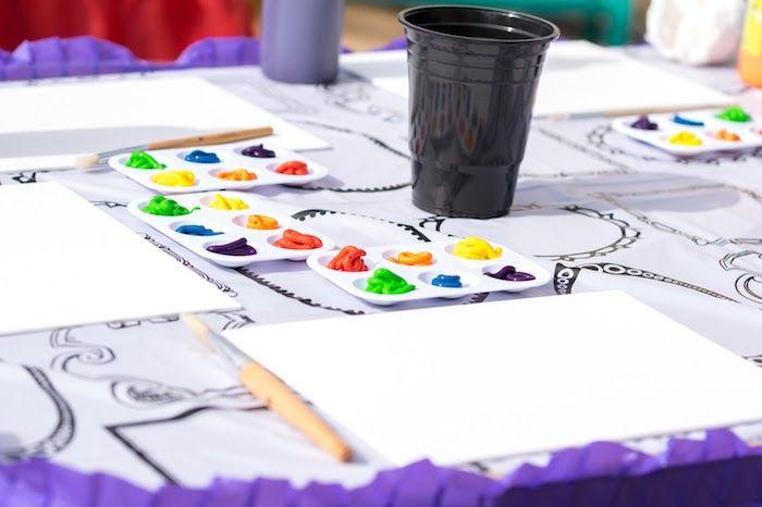 Rainbow Paint Party Party Ideas Rainbow Painting Paint