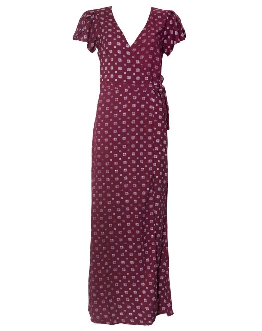359519e9bb6 Buy Motel Violetta Maxi Dress in Cravat Oxblood at Motel Rocks - Motel Rocks