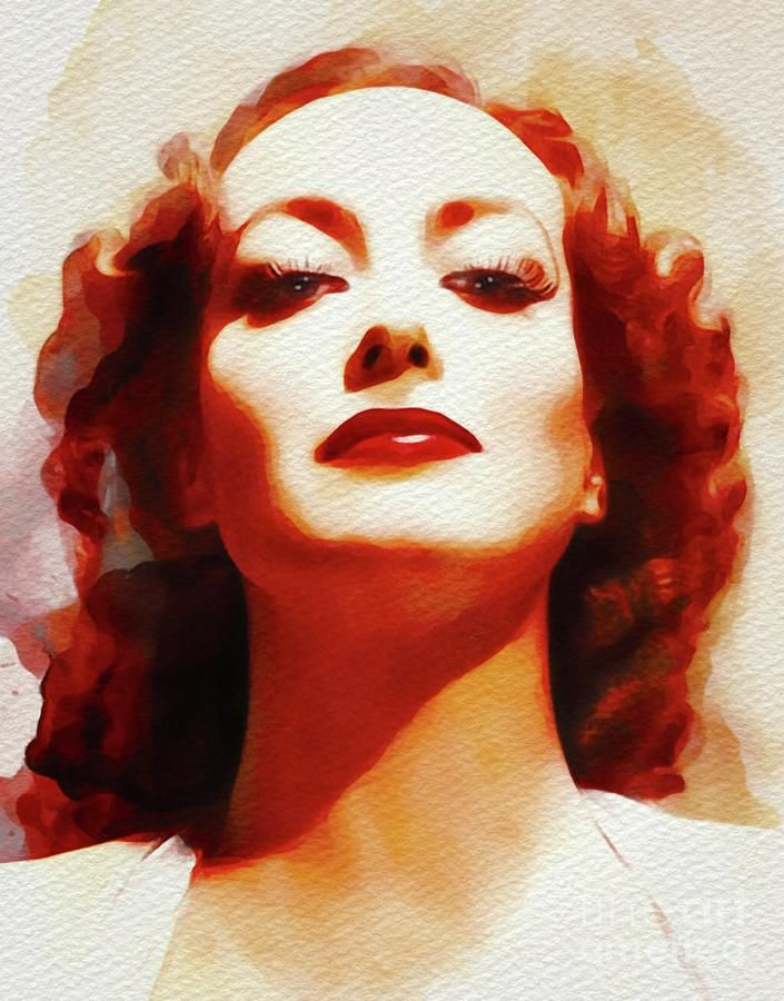 Painting - Joan Crawford, Hollywood Legend by Esoterica Art Agency #affiliate , #Affiliate, #Aff, #Crawford, #Joan, #Art, #Hollywood