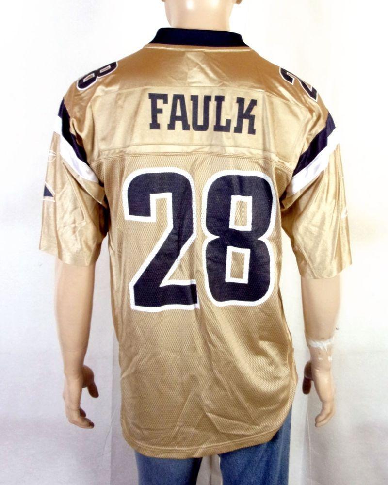 e4539c75e vtg 90s Reebok St Louis LA Los Angeles Rams Marshall Faulk NFL Jersey HOF  sz M  Reebok  LosAngelesRams